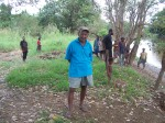 Bill Eichhorn at home on the banks of the Keram River