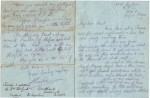 Charles de Berigny's last letter to Auntie Marie