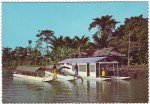 Angoram Hotel Sepik.  Houseboat and powered canoes for guided tours along the mighty Sepik River. Angoram, Sepik District, New Guinea Photo Uwe Steinward (C) GNG 70