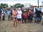 Dieter with Peter Johnson, Sepik Ironman Competition, 07/06/2009