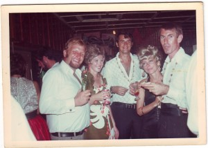 Kevin Trueman on the left, late 1960s in the Angoram Club