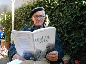 Dave Wall with Graham Greene