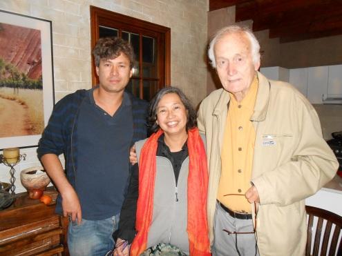 Andrei, Deborah, David - Deb's birthday 18/11/2013